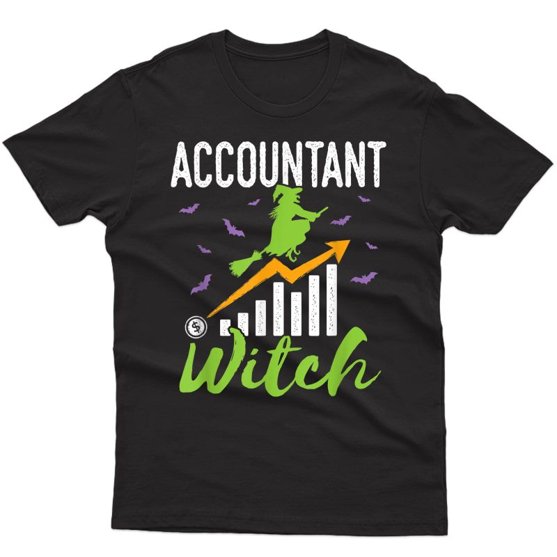 Accountant Witch Halloween Accounting Cpa T-shirt