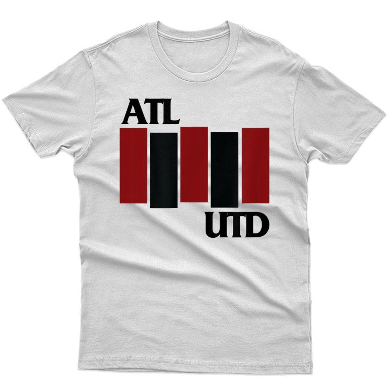 Atlanta Soccer United Fc Football T-shirt Band Logo