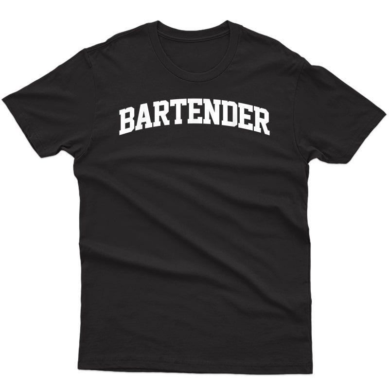 Bartender Occupation Job Costume Funny T-shirt