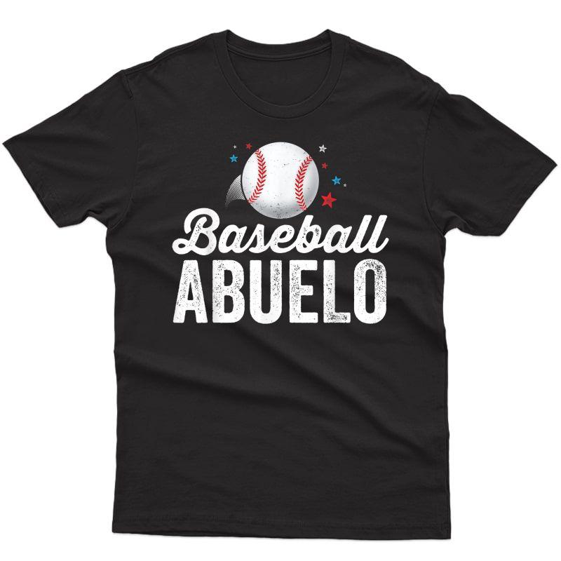 Baseball Abuelo T-shirt Grandpa Grandfather Latino Gift