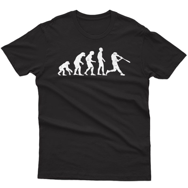 Baseball Evolution Funny Coach Player Team T-shirt