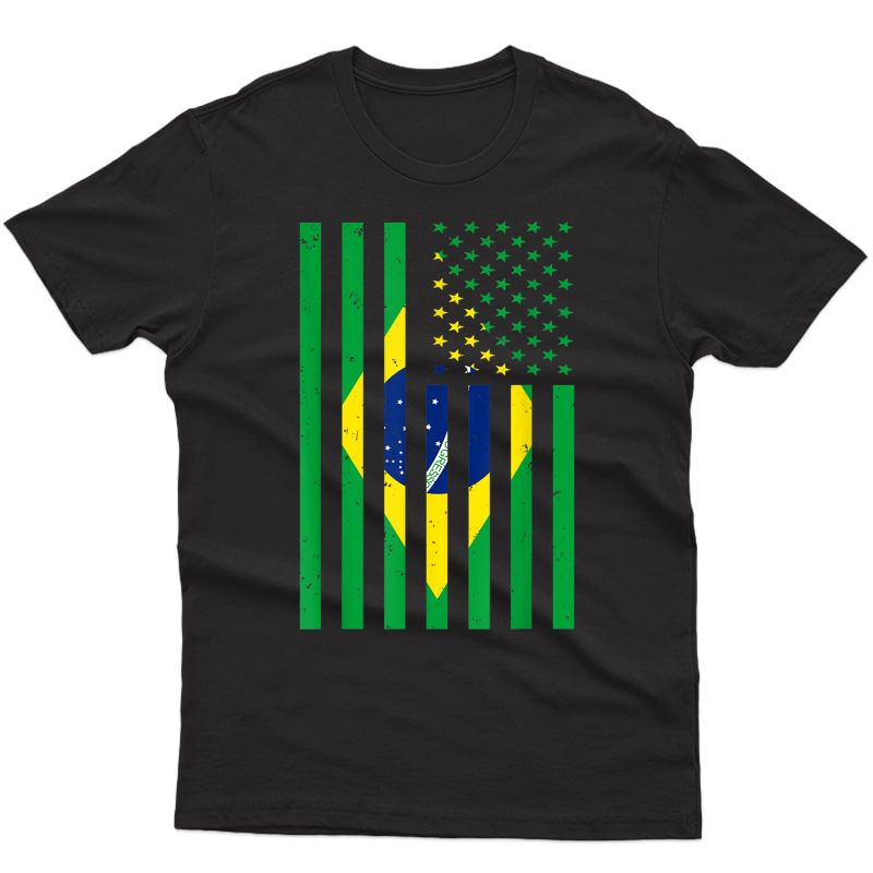 Brazil Shirt Brasil Soccer Usa America Flag T-shirt