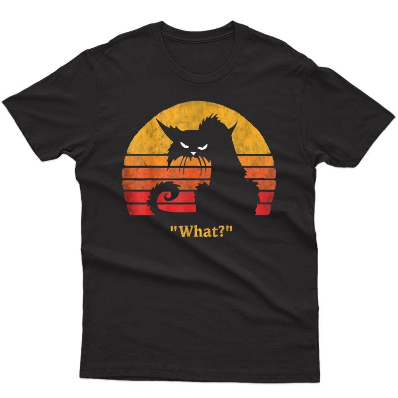 Cat What Funny Halloween Christmas Gift Shirt T-shirt