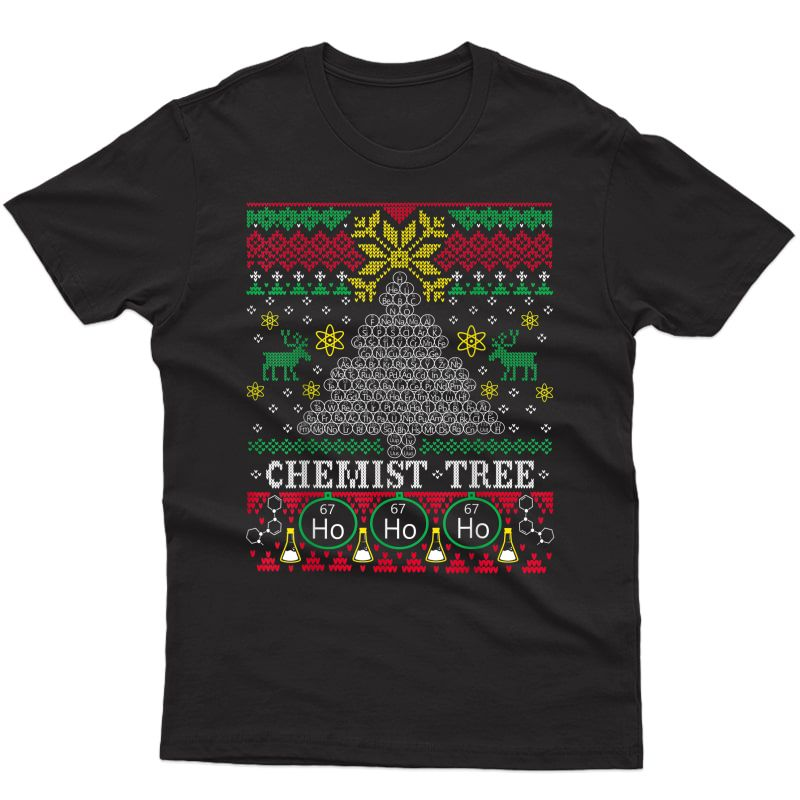 Chemistry Ugly Christmas T-shirt Oh Chemist Tree Periodic