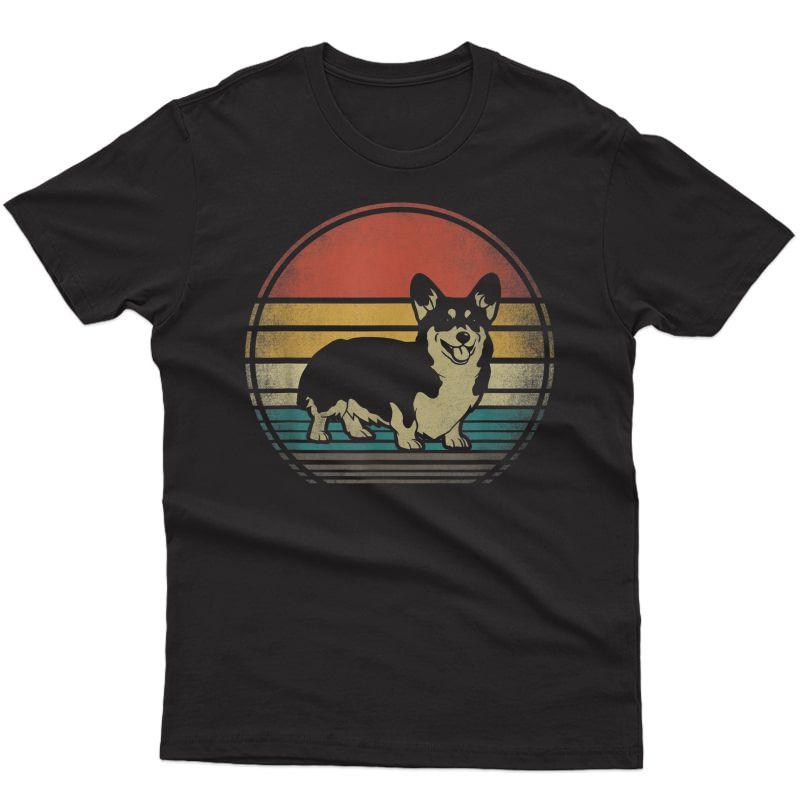 Corgi Dog Retro Vintage 60s 70s Funny Corgi Loves Gift T-shirt