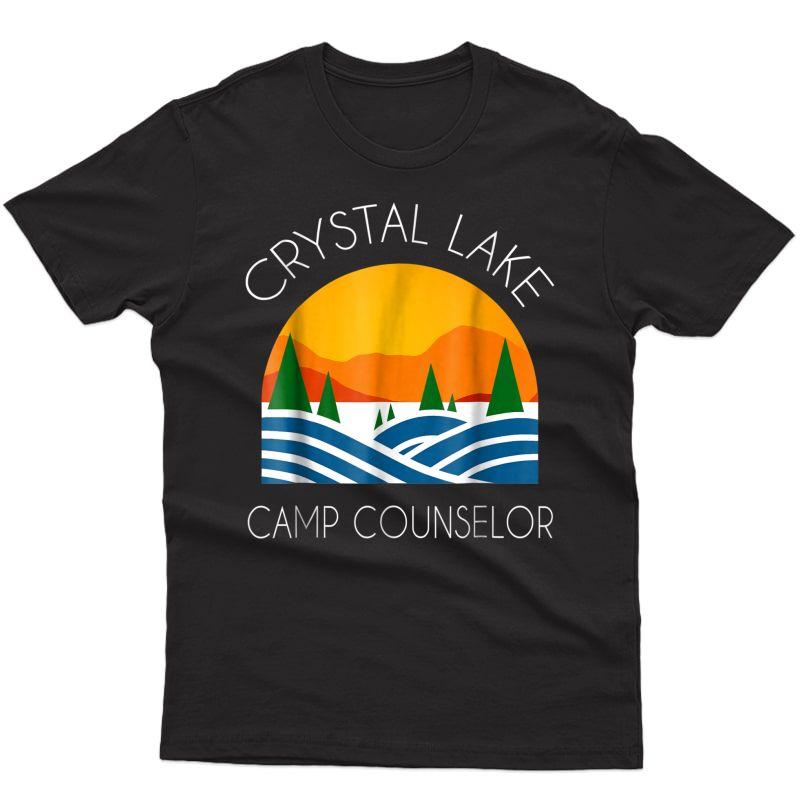Crystal Lake Camping And Fun Camp Counselor Happy Camper Shirts