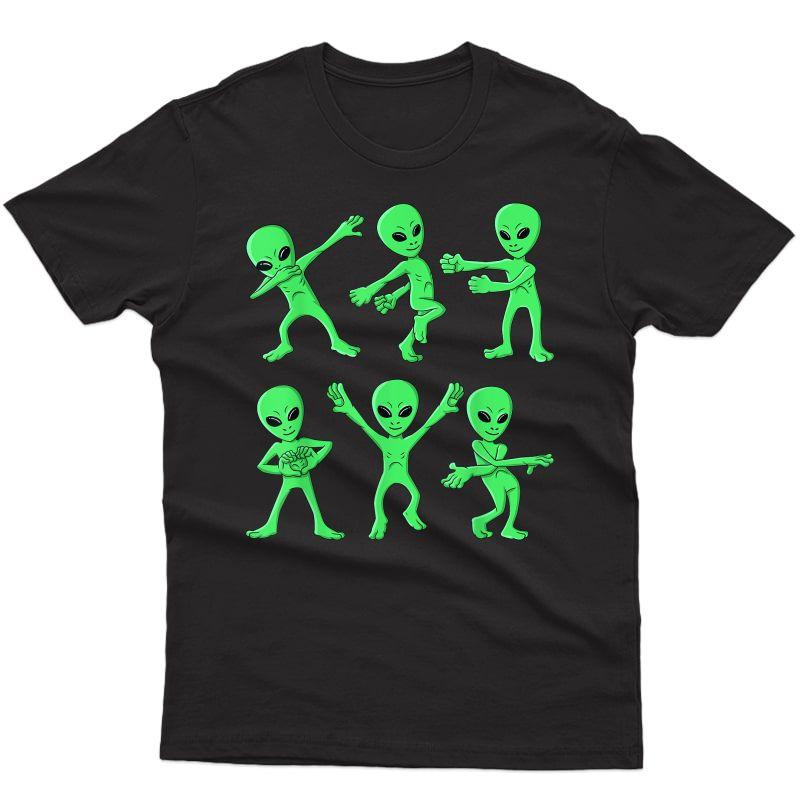 Dancing Aliens Dance Challenge Girls Halloween T-shirt