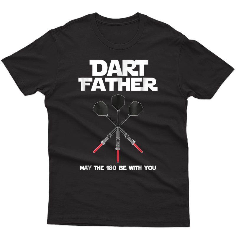 Darts Father Dad Dart Gift Bullseye Beer Pub Shirt