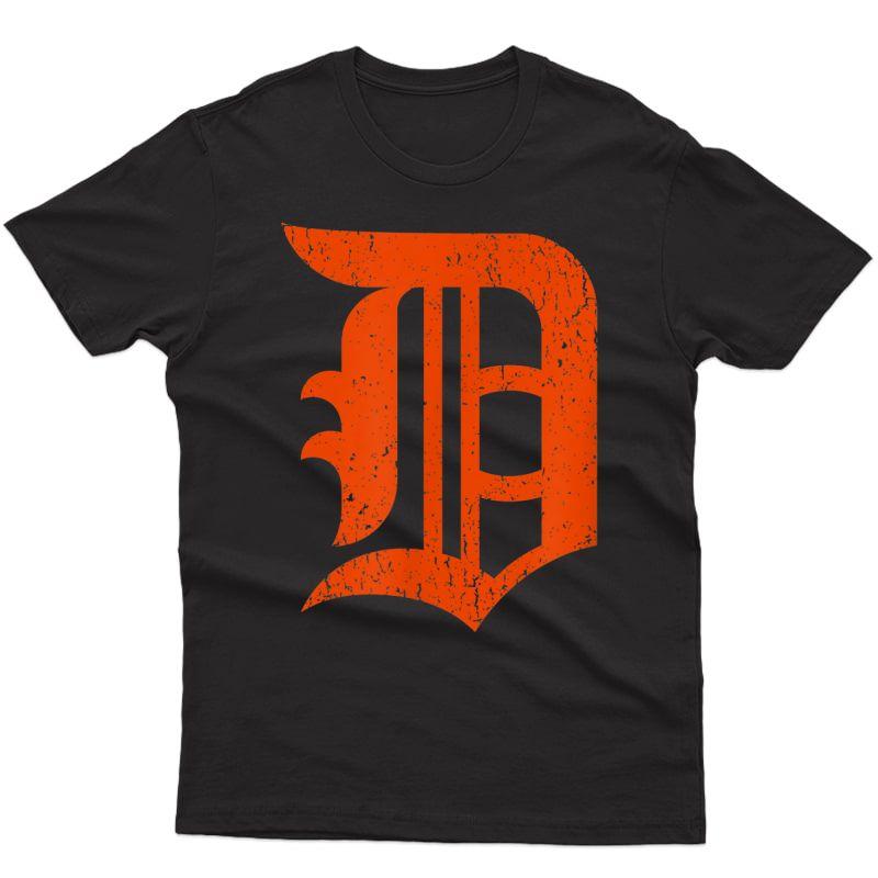 Detroit Baseball D | Vintage Michigan Bengal Tiger Retro T-shirt
