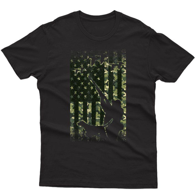 Duck Hunting Shirts For American Flag Hunter Camo Gifts T-shirt