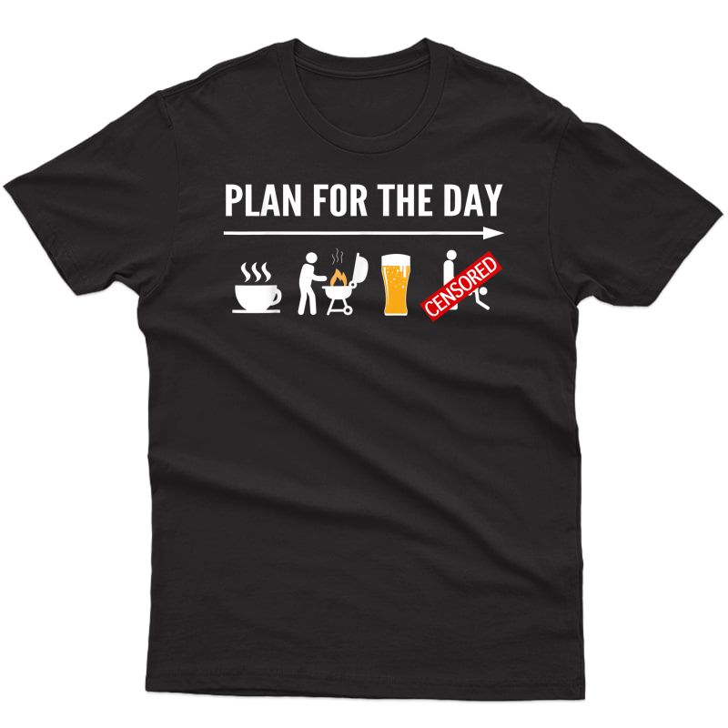 Funny Bbq Shirts For Coffee, Grilling, Beer Adult Humor T-shirt