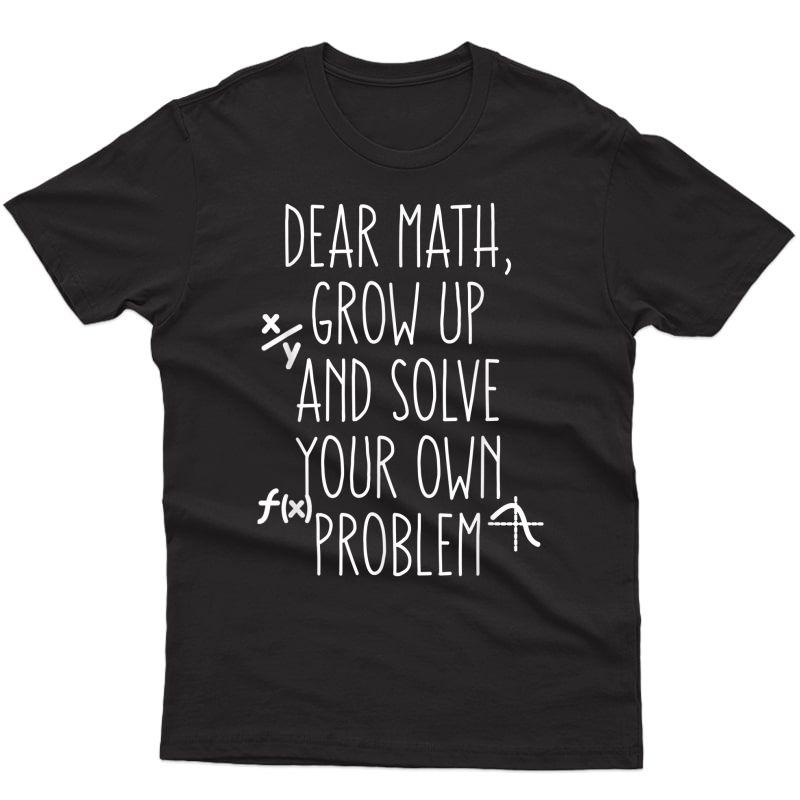 Funny Math Shirt For Teen Girls Tween Tea College