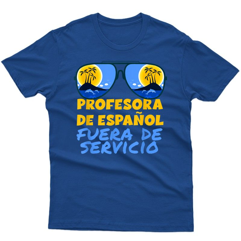 Funny Spanish Tea Off Duty Happy Last Day Of School Cute T-shirt
