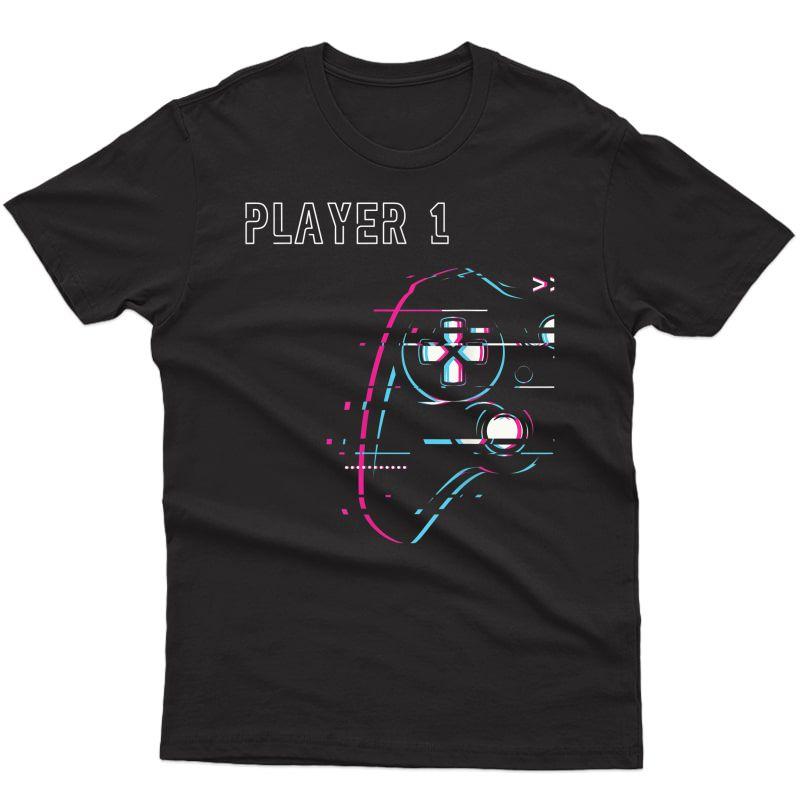 Gamer Couple - Player 1 Player 2 - Gamer Team T-shirt