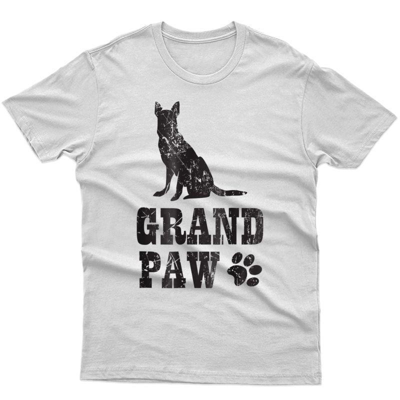 German Shepherd Grand Paw Shirt Grandpaw Grandpa Dog Lover
