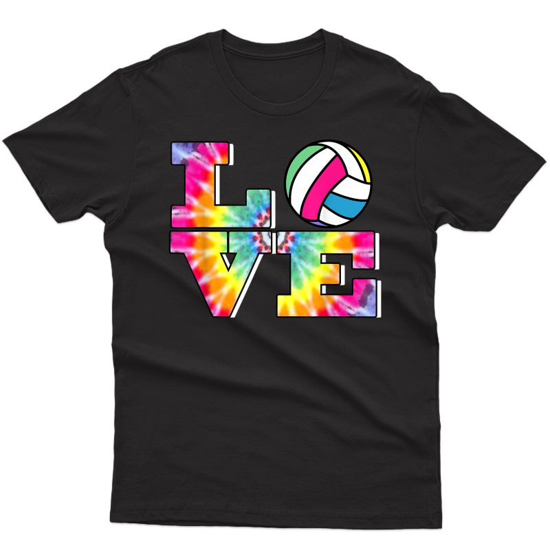 Girls Volleyball Tie Dye Love Colorful For Teenagers T-shirt