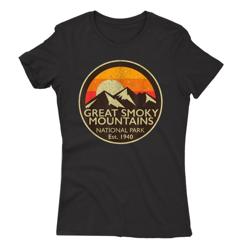 Great Smoky Mountains National Park T Shirt Hiking Camping