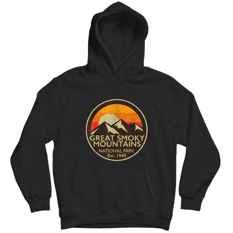 Great Smoky Mountains National Park T Shirt Hiking Camping Unisex Pullover Hoodie