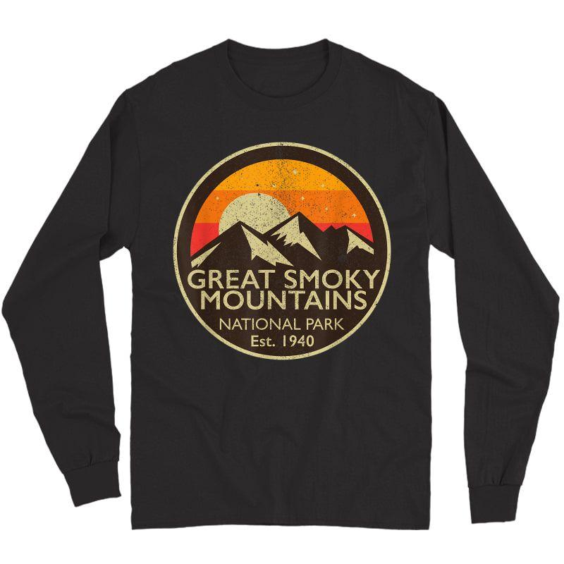 Great Smoky Mountains National Park T Shirt Hiking Camping Long Sleeve T-shirt