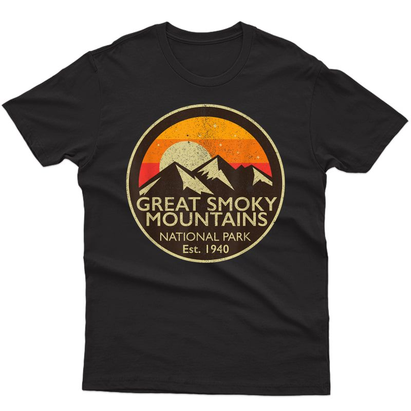 Great Smoky Mountains National Park T Shirt Hiking Camping