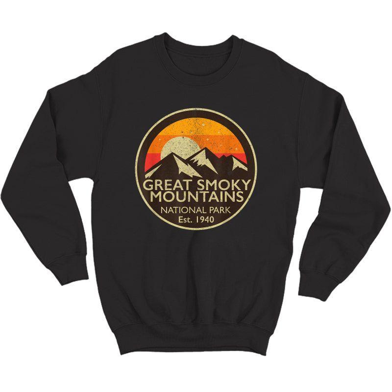 Great Smoky Mountains National Park T Shirt Hiking Camping Crewneck Sweater