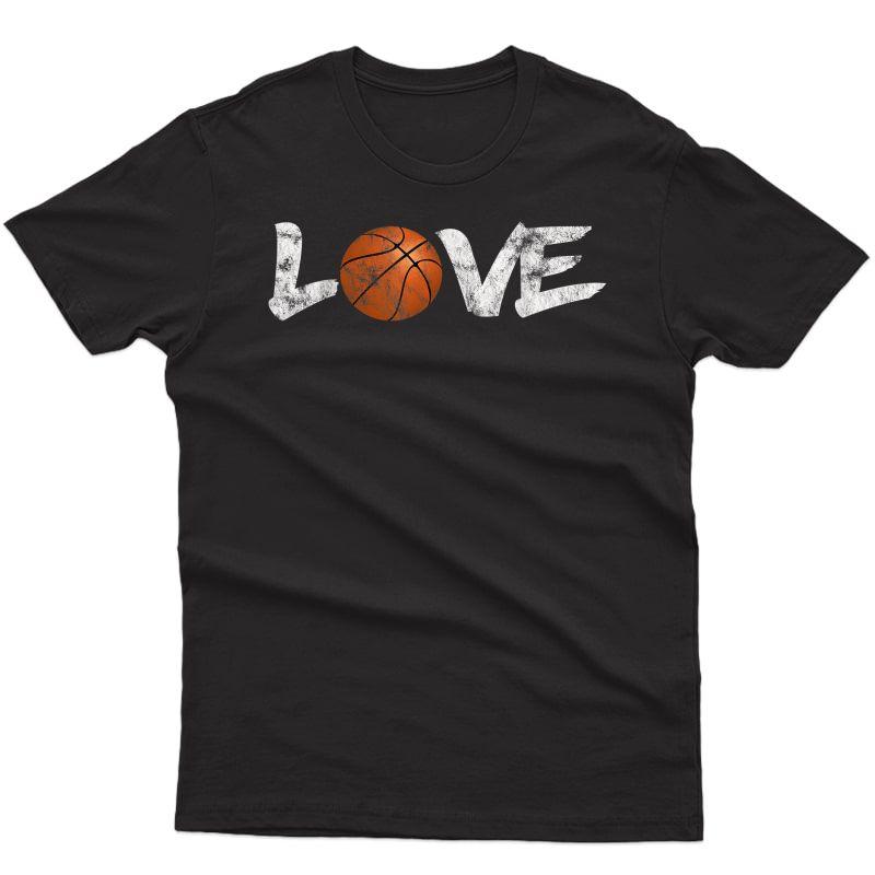 I Love Basketball Basketball Lover Vintage T-shirt