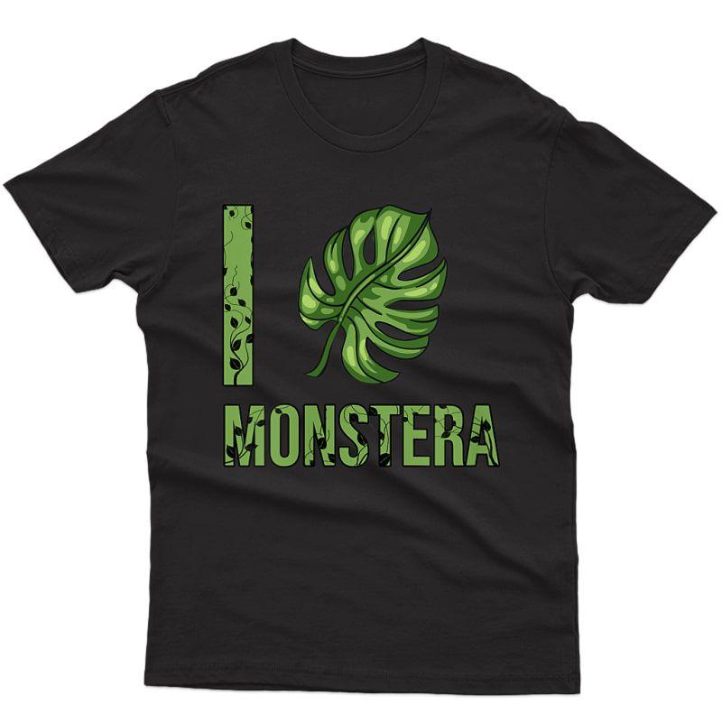 I Love Monstera Plant Mama & Plant Lovers Monstera T-shirt