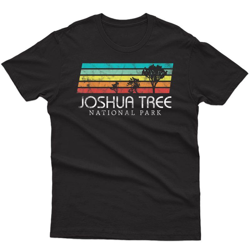 Joshua Tree Desert Vintage Retro Outdoors Camping T-shirt