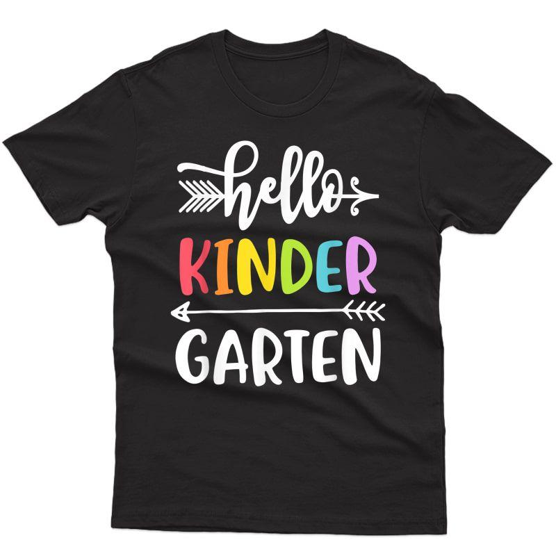 Kindergarten Tshirt Hello Kinder Tea Student Teamwork T-shirt