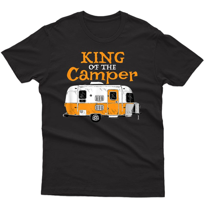 S Matching Camping Couples King Of The Camper T-shirt