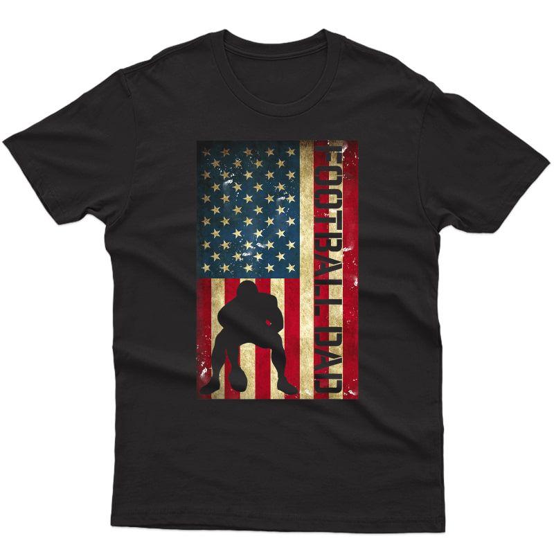 S Usa Flag Football Dad - Pittsburgh Lineman Fathers Day Gift T-shirt