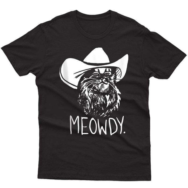 Meowdy Texas Cat Meme Tank Top Shirts