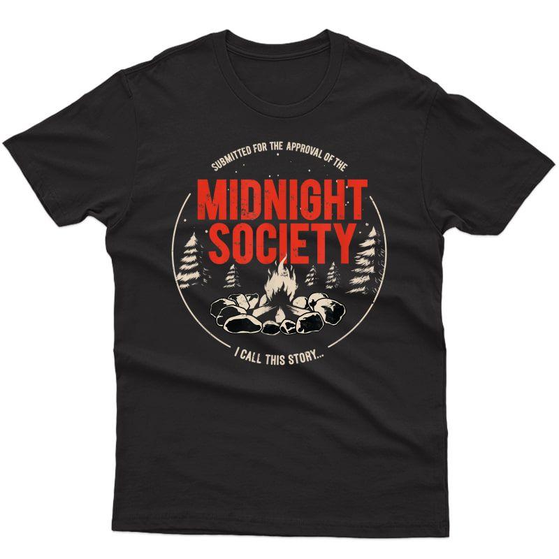 Midnight Society Red Text Campfire T-shirt