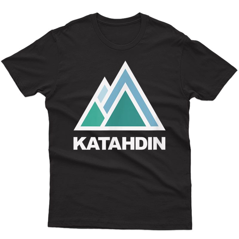 Mount Katahdin Maine Mountain Hiking T-shirt