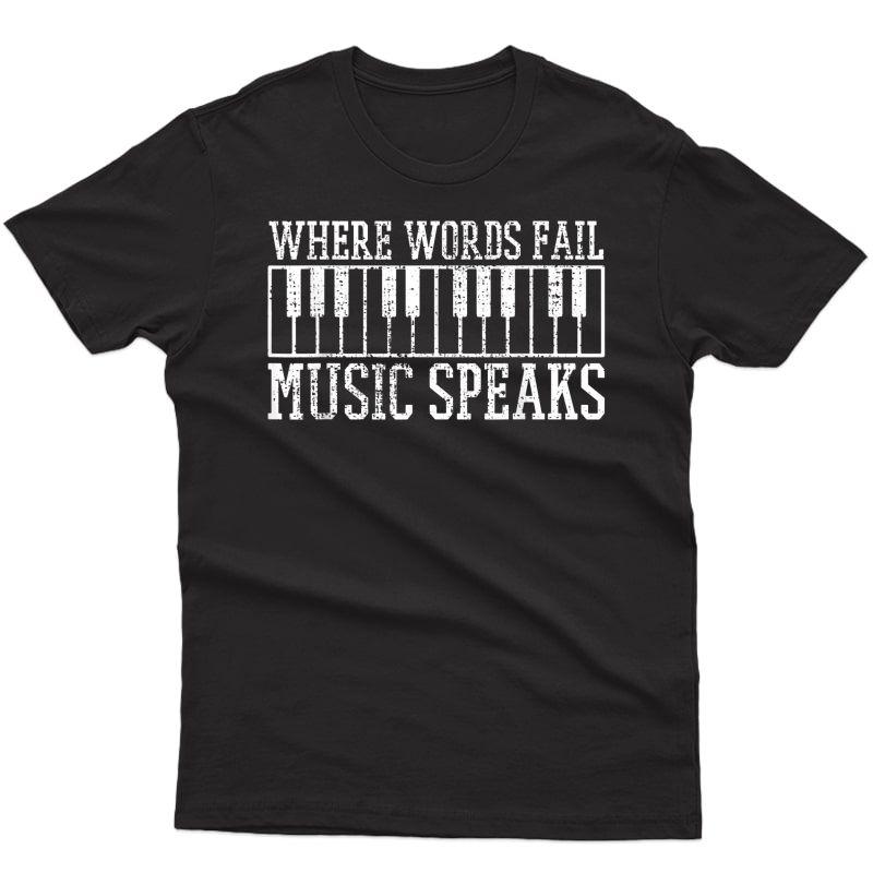 Piano Keyboard Pianist Music Tea Gift T-shirt