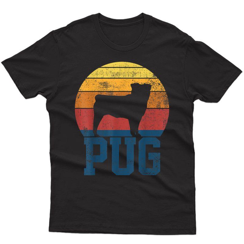 Pug Dog Vintage T-shirt