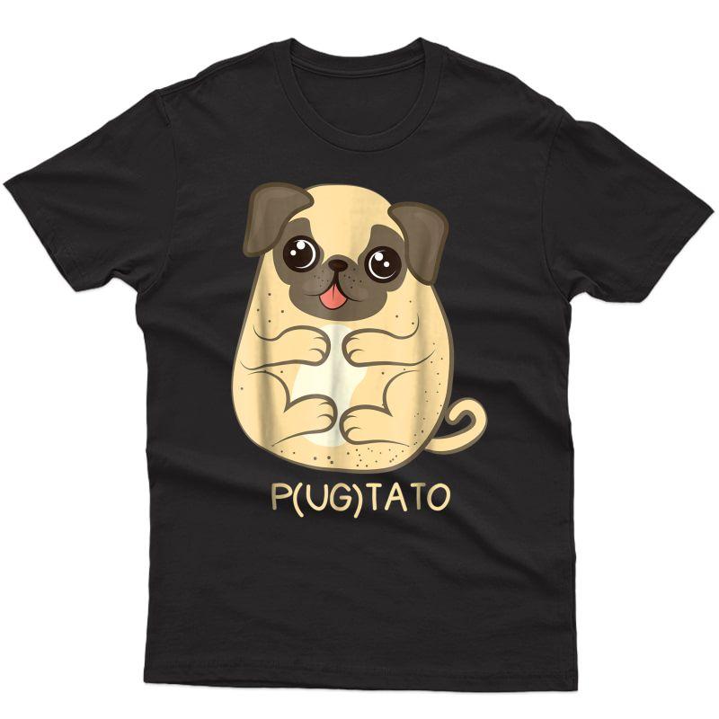 Pugtato Pug Potato Dog Lover T-shirt Gift