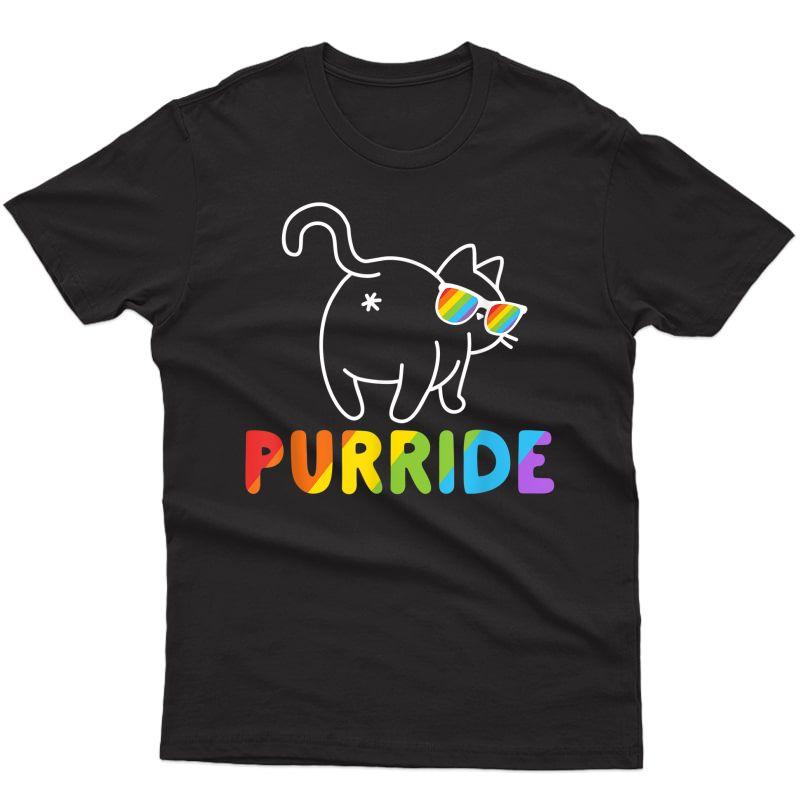 Purride Shirt Funny Cat Gay Lgbt Pride Tshirt