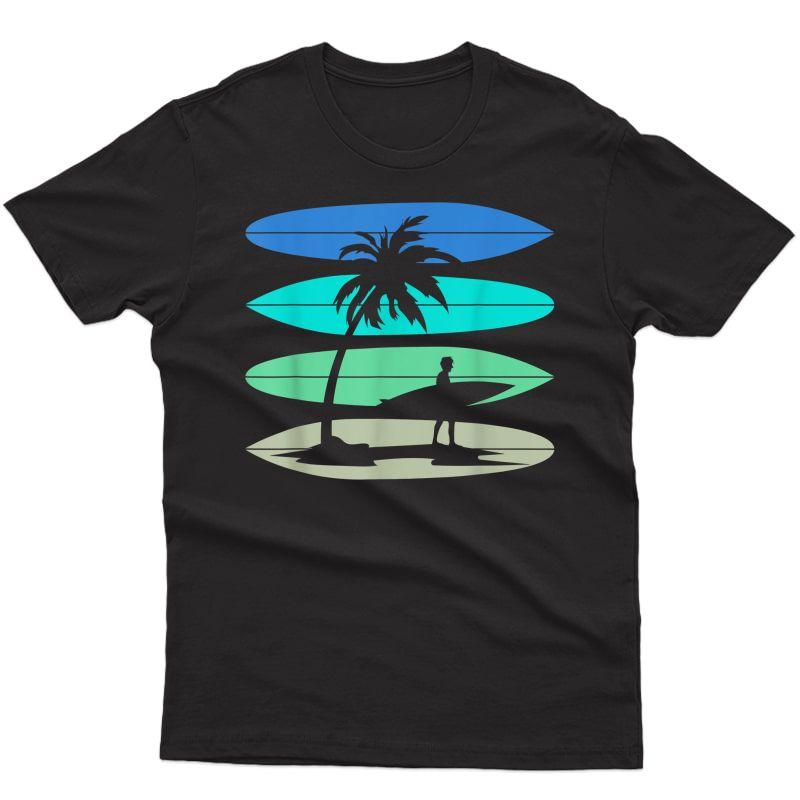 Retro Surfboard Beach Surf Surfing Surfer Ocean Surfing T-shirt
