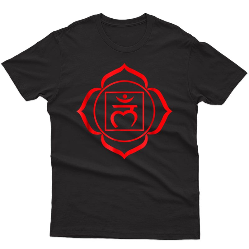 Root Chakra Symbol Red Muladhara - Yogi Yoga T-shirts