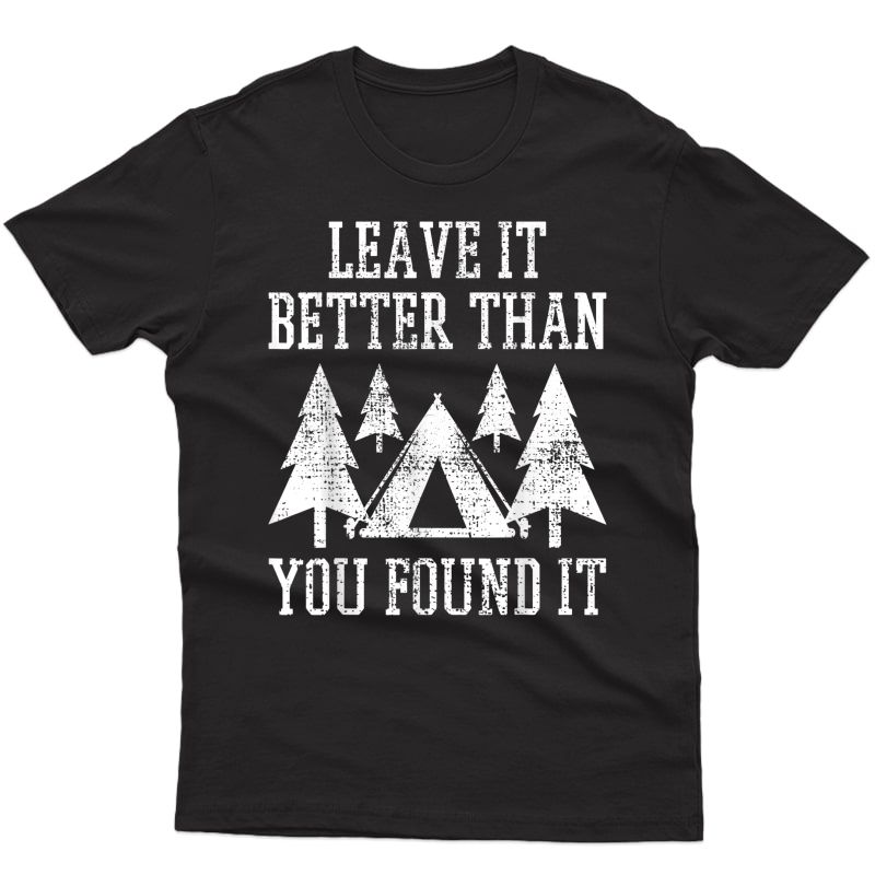 Scout Camp Scouting Camping Hiking Vintage Tent Gift T-shirt