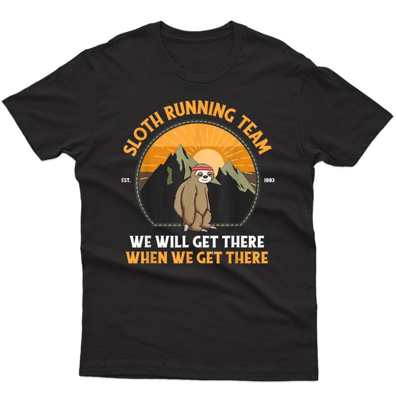 Sloth Running Shirt, Sloth Running Team T-shirt