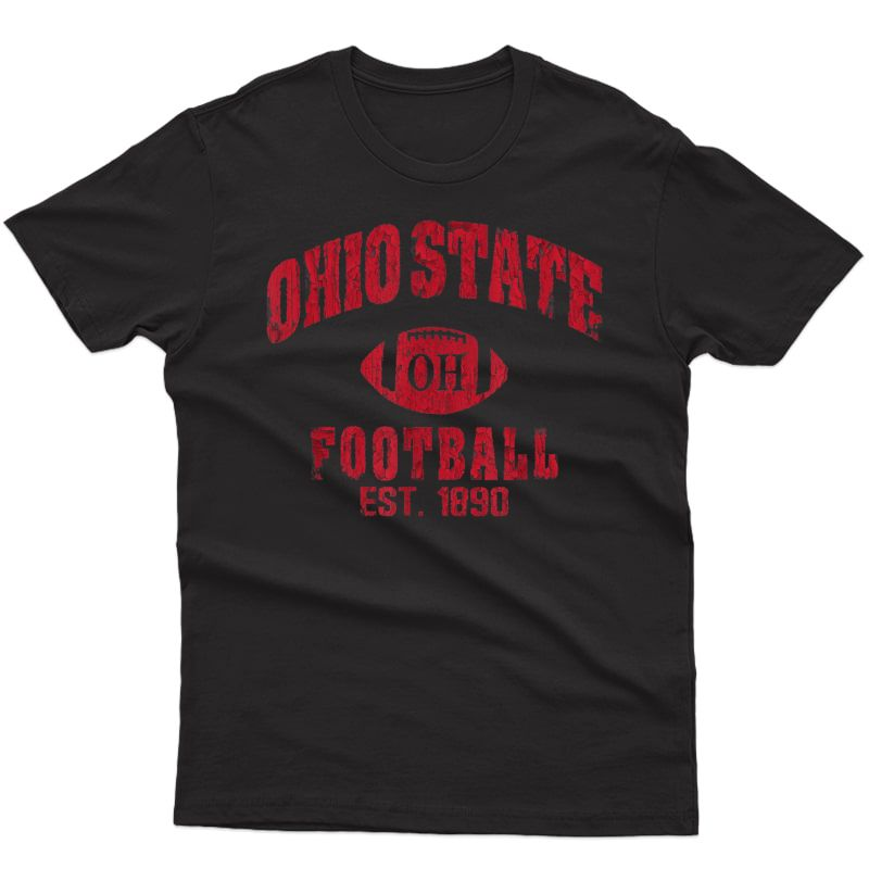 State Of Ohio Columbus Varsity Style Football Gift T-shirt