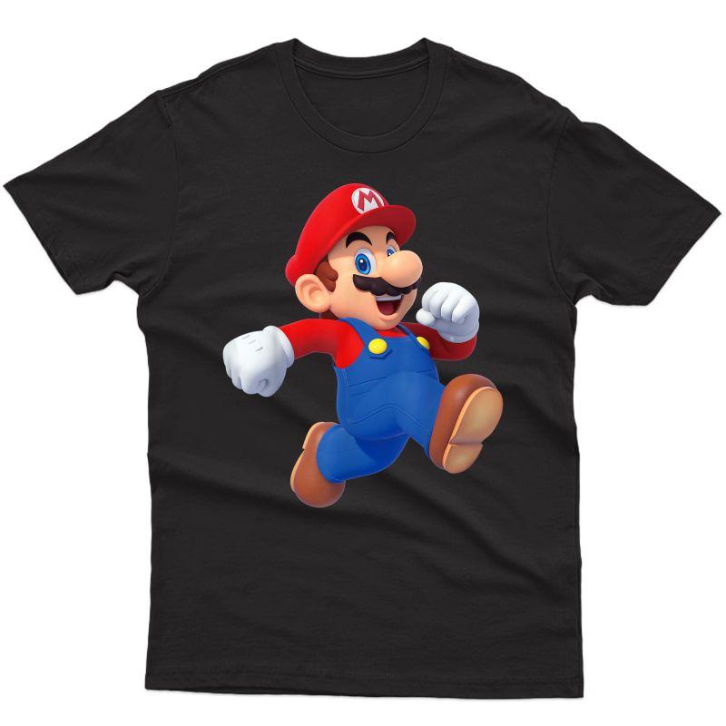Super Mario Running Mario 3d Poster T-shirt