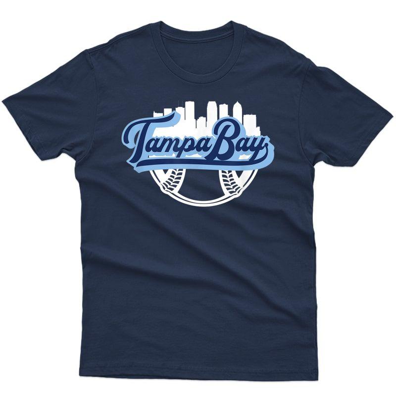 Tampa Bay Baseball Downtown City Skyline Fan T-shirt
