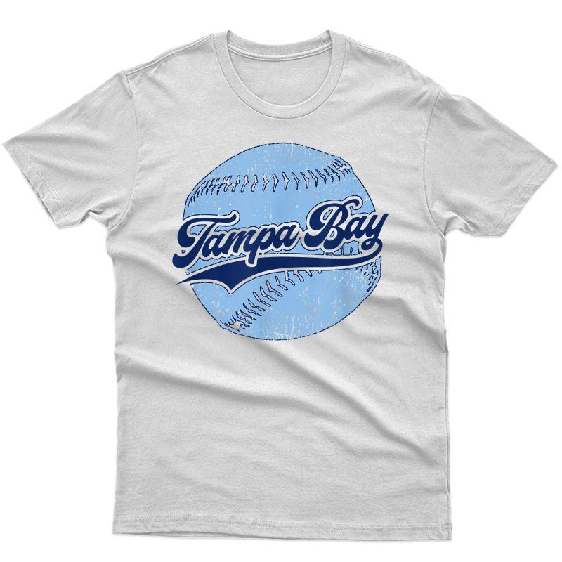 Tampa Bay Baseball Vintage Florida Ray Retro Gift T-shirt