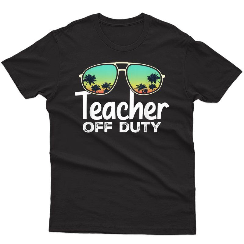 Tea Off Duty Sunglasses Beach Sunset T-shirt