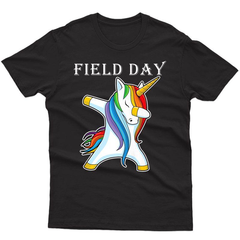 Tea Team Shirts Field Day With Cool Dabbing Unicorn Dab Premium T-shirt