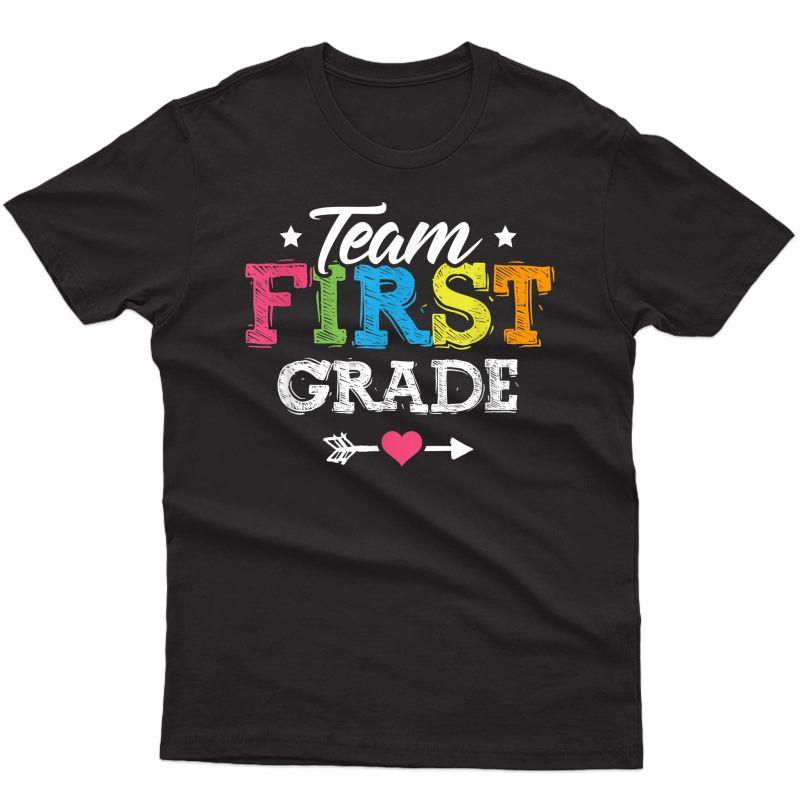 Team First Grade Shirt Tea Student Back To School T-shirt
