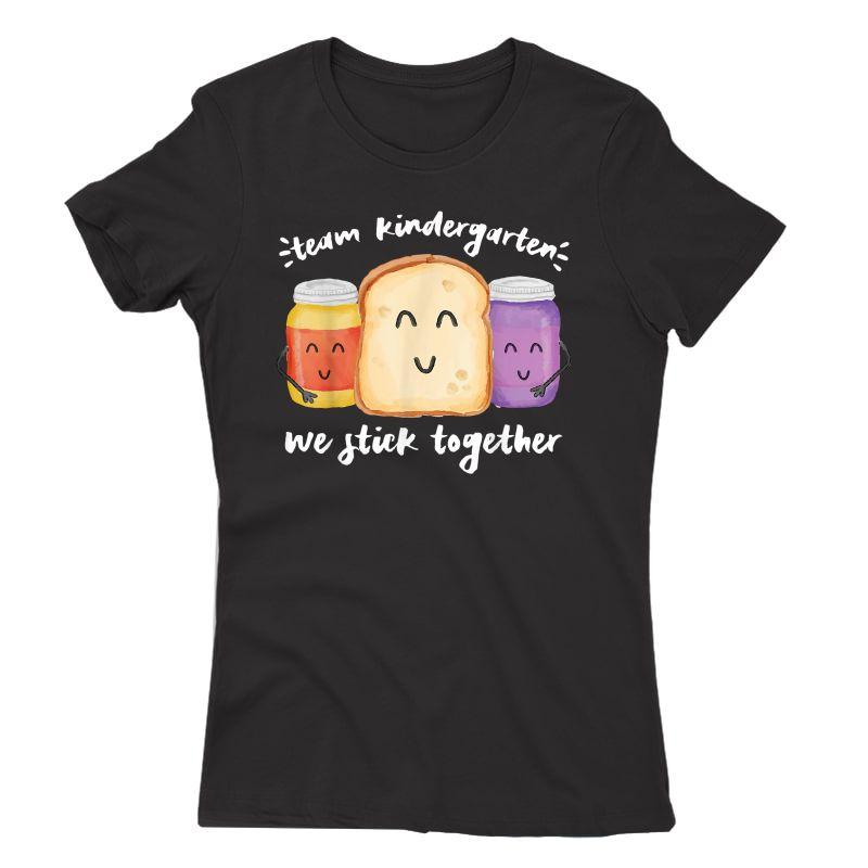 Team Kindergarten We Stick Together School Tea Student T-shirt
